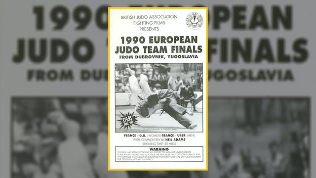 1990 European Judo Team Championships...