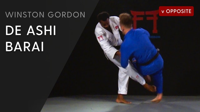 De ashi barai from lapel break | Winston Gordon