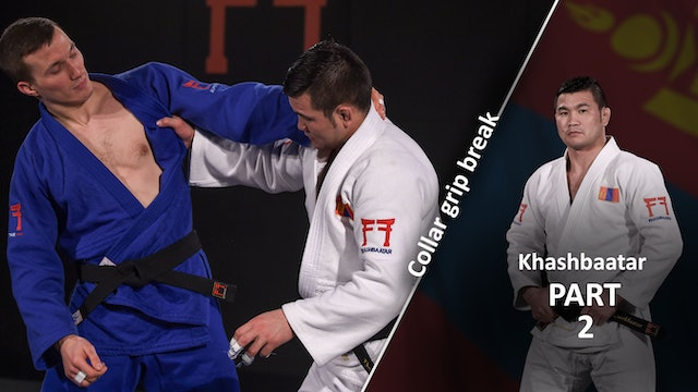 Collar grip break - Creating space | Khashbaatar