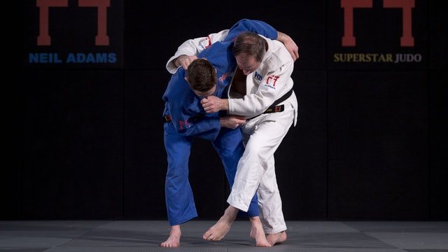 Hashimoto's leg tap into Te waza | Neil Adams