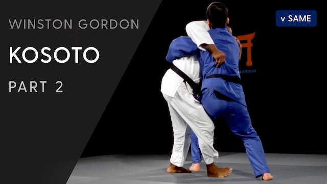 Bearhug Kosoto gake - cross grip variation | Winston Gordon