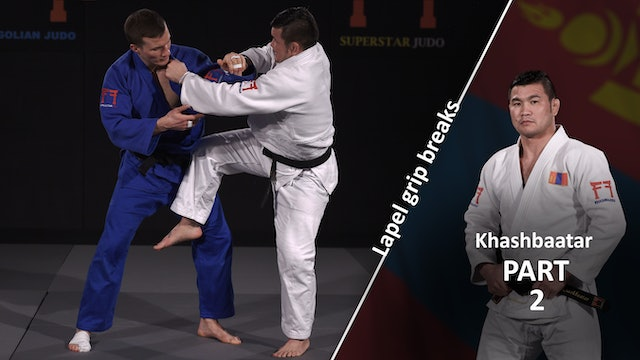 Lapel grip break - Set up | Khashbaatar