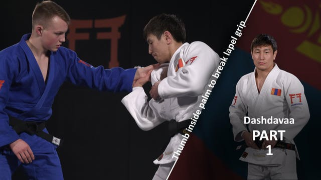 Lapel grip break - the Thumb vs left ...