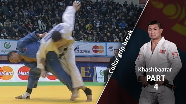 Collar grip break in Competition | Khashbaatar
