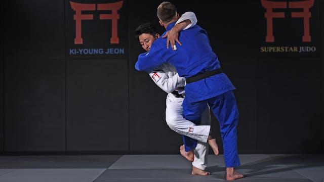 Kosoto gari off the grip | Korean Judo
