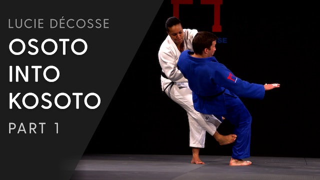 Osoto into Kosoto combination | Lucie Décosse