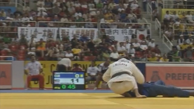 Mark Huizinga - Yoko tomoe nage - double foot