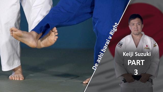 Lower Body VS Right | De Ashi Barai | Keiji Suzuki