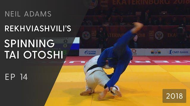 Rekhviashvili's spinning Tai otoshi |...