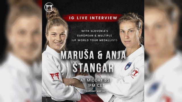 IG Live With Anja & Marusa Stangar