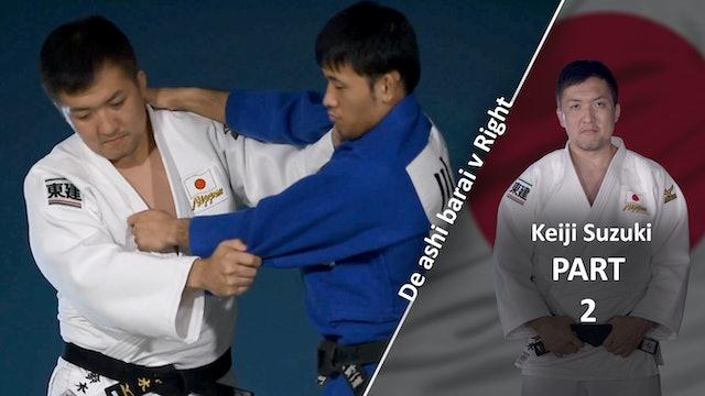 Upper Body VS Right | De Ashi Barai | Keiji Suzuki