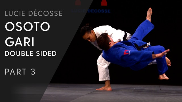 Release & execution | Double sided Osoto gari | Lucie Décosse