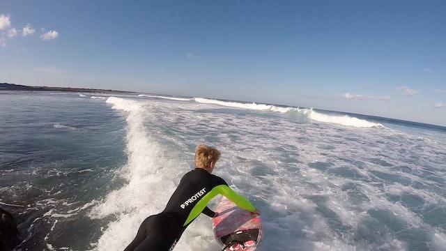 Surfing Over Reef Part 2 - Rock Jumps & Shorebreak