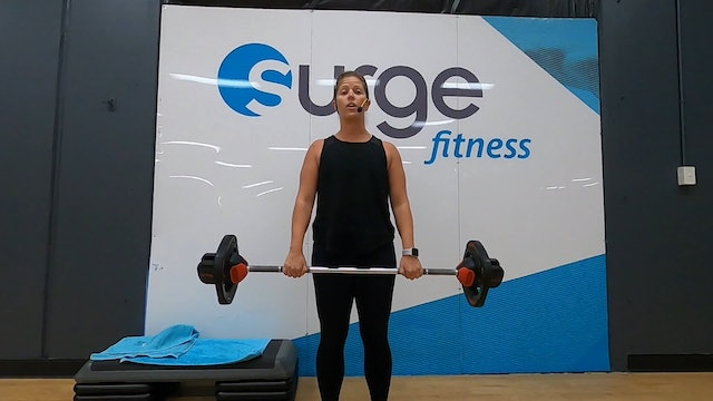 Jo with Body Pump - Tuesday 28/04