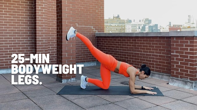25 MIN BODYWEIGHT LEGS (NO JUMPING)