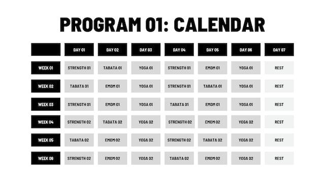 PROGRAM 01 CALENDARS