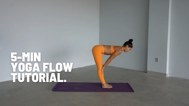 5 MIN YOGA FLOW TUTORIAL