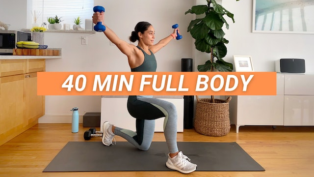 40 MIN FULL BODY W/ DUMBBELLS