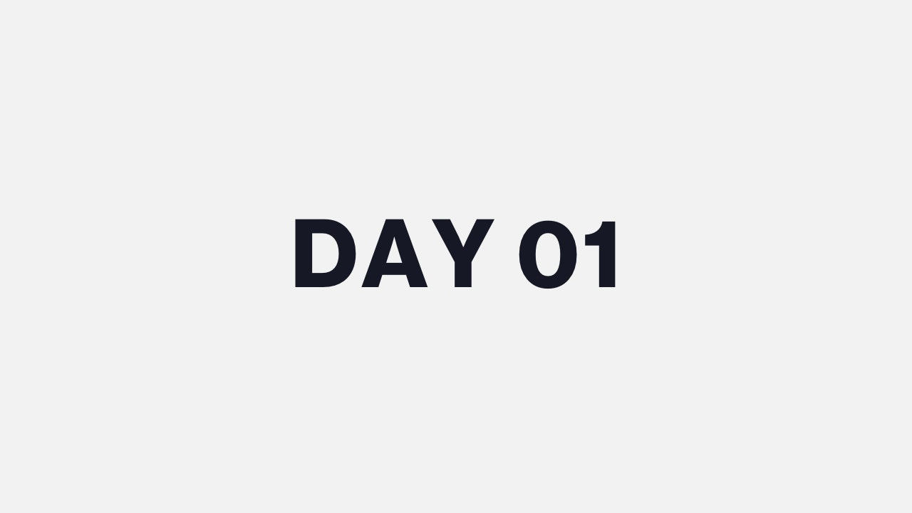 DAY 01
