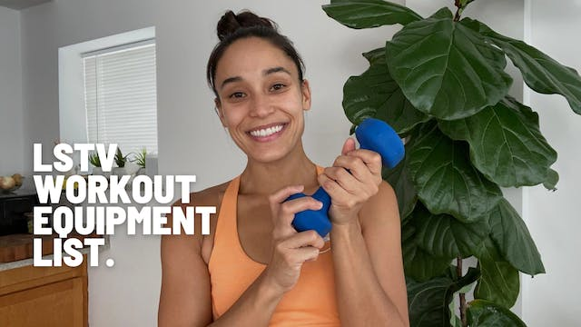 RECOMMENDED WORKOUT EQUIPMENT