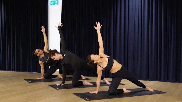 Sweat Flow Yoga with Angela: Side Plank & Backbend Flow