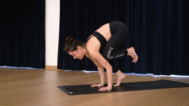 Sweat Flow with Angela: Crow Pose Progression