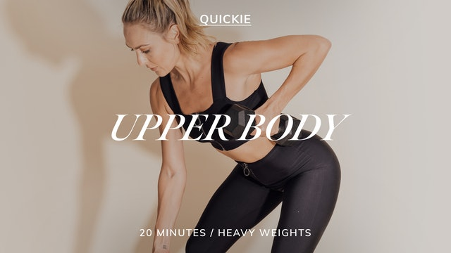 20 MIN SEQUENCE UPPER BODY 9/27