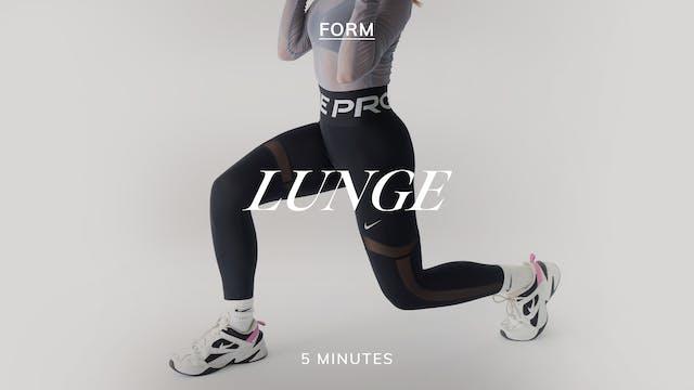FORM LUNGE