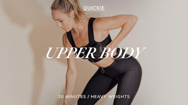 20 MIN SEQUENCE: UPPER BODY 3/2