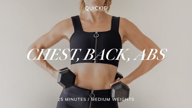 25 MIN SEQUENCE: CHEST, BACK, ABS 4/26