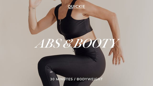 30 MIN SEQUENCE ABS & BOOTY 3/29