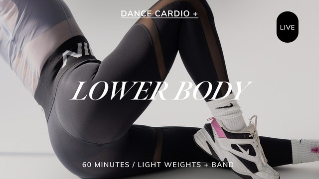 *LIVE* DANCE CARDIO + LOWER BODY 9/1