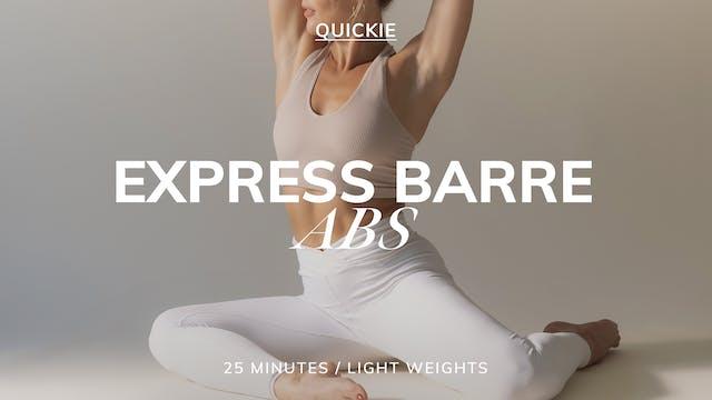 25 MIN EXPRESS BARRE ABS 9/27