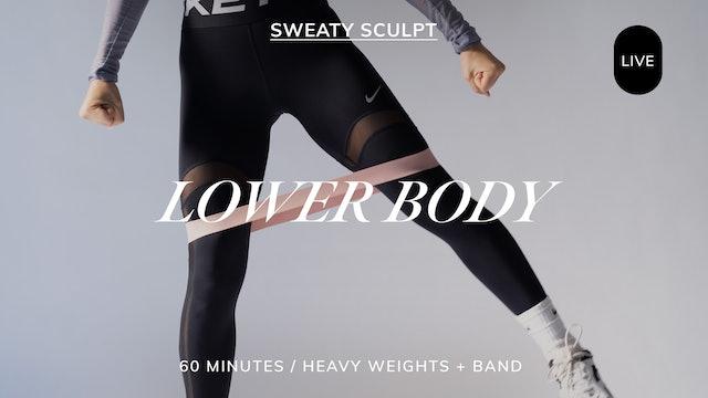 *LIVE* SWEATY SCULPT LOWER BODY 9/28