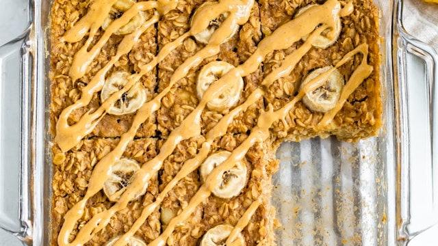 Peanut Butter Banana Oatmeal Bake