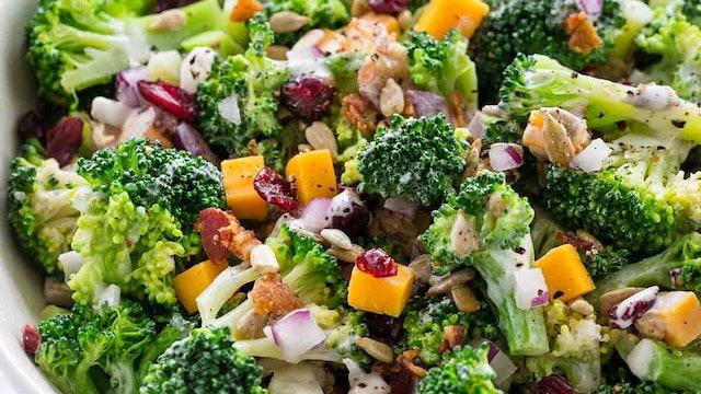 Broccoli Almond Protein Salad