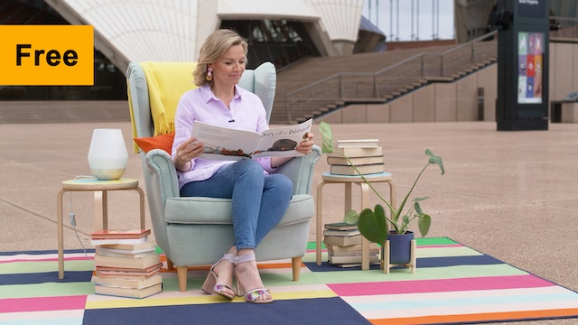 Justine Clarke reads Diary of a Wombat | Footlights & Booklights