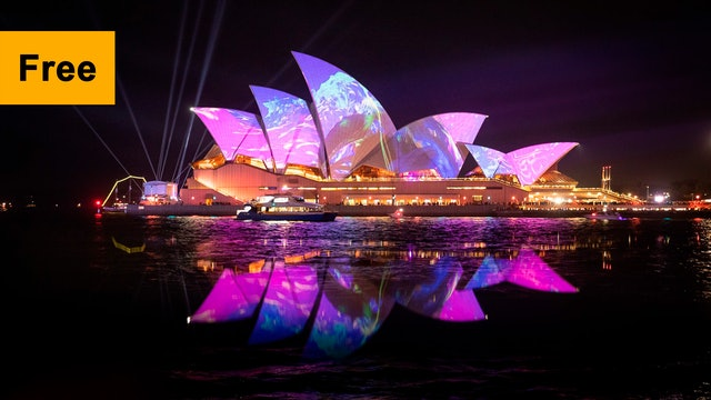 Lighting of the Sails 2019   Austral Flora Ballet by Andrew Thomas Huang