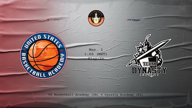 USBA vs Dynasty Academy