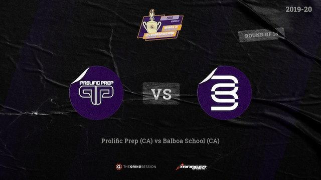 Balboa School Escondido, CA vs Prolific Prep Napa, CA