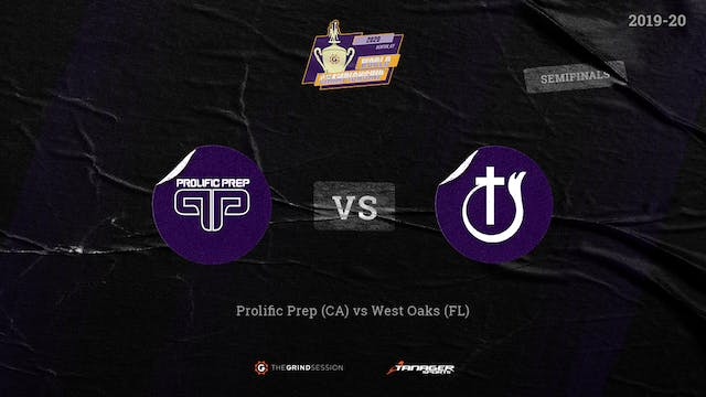 Prolific Prep Napa, CA vs West Oaks A...
