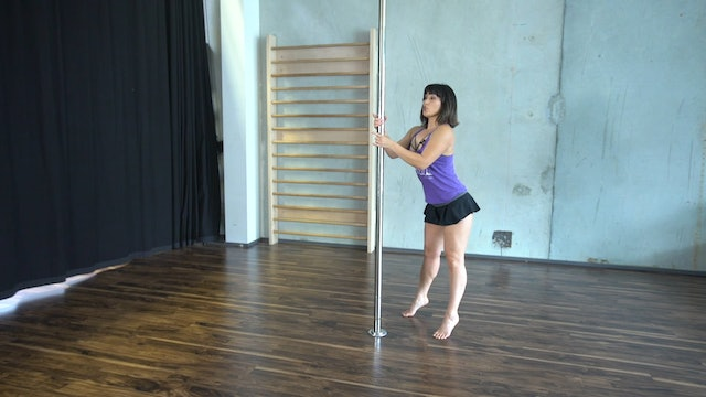 Lady Like Spin Pole Combo with Rachel