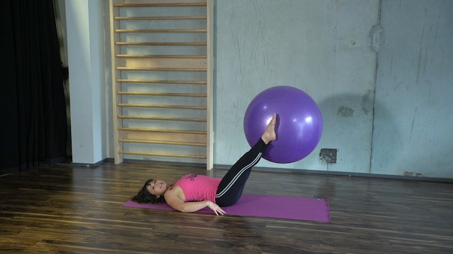 Body Ball Leg Lifts with Rachel