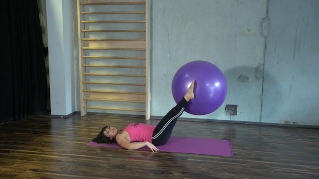 Body Ball Leg Lifts with Rachel