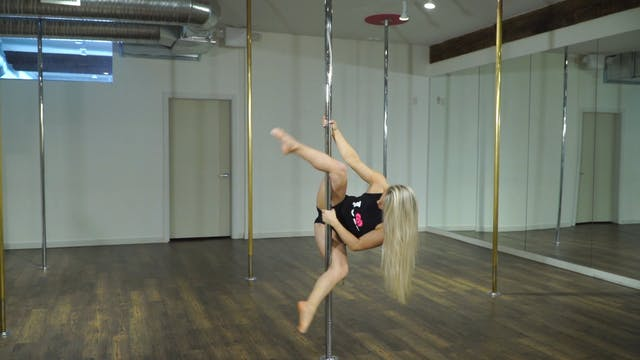 Single Arm Pole Handstand from Frog w...