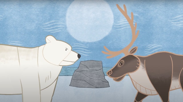 ᓇᓄᖅ ᑐᒃᑐᓪᓗ  • The Polar Bear and the Caribou