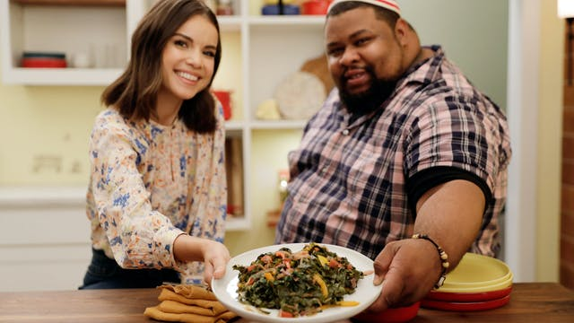 Michael Twitty's Smoked Tea Greens