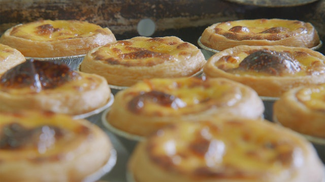 Macanese Almond Biscuits and Creme Brulee Tart