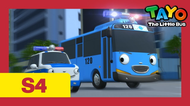 Tayo the Little Bus S4 EP18 - Tayo becomes a police officer