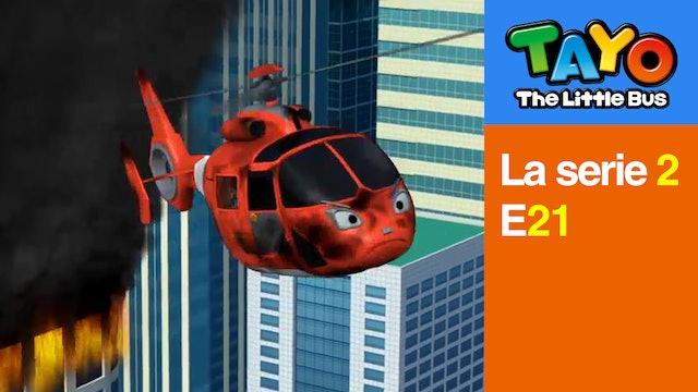 Tayo El Pequeño Bus la Serie 2 EP21 - Air, el helicóptero valiente